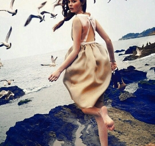 Gadis Pantai DiterbangkanCamar